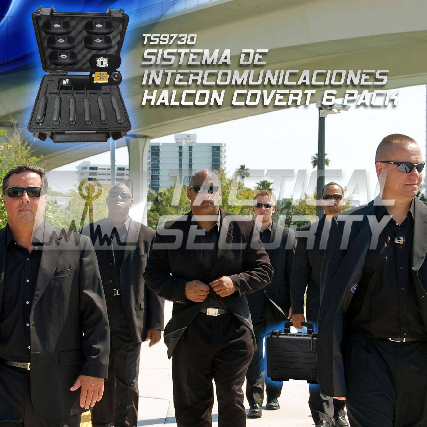 Sistema de Intercomunicación Halcón Covert 6 Pack uso