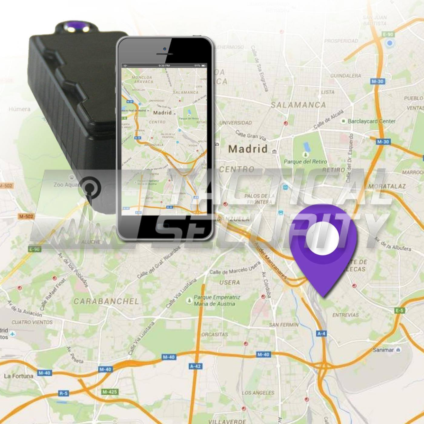 Tracker GPS IPX7 Long Life googlemap